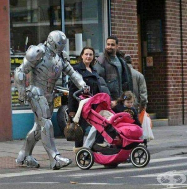 """""""Тати е железният човек!"""""""