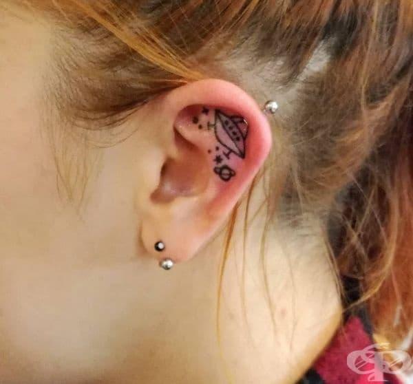 20 идеи за елегантни татуировки на ушите