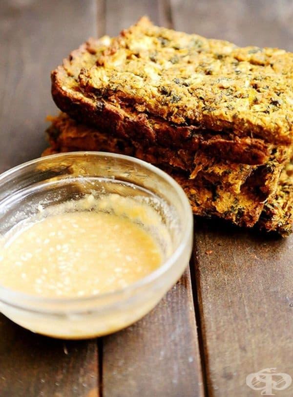Царевична питка със сос Мисо.