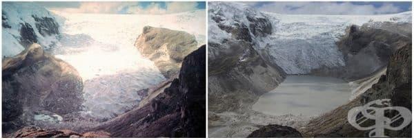 Ледник Кори Калис, Перу (юли 1987 - юли 2011).