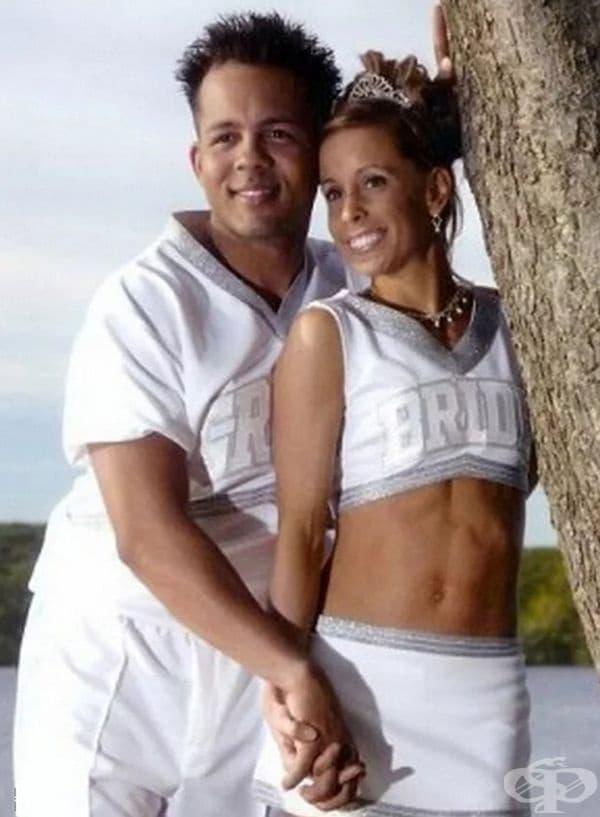Спортни младоженци.