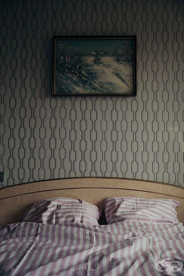 Спално бельо, което е било еднакво в почти всички домове по онова време.