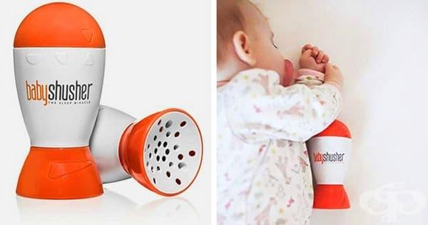 Устройство, което имитира звука на матката, така че бебето да може да се отпусне и да заспи комфортно.