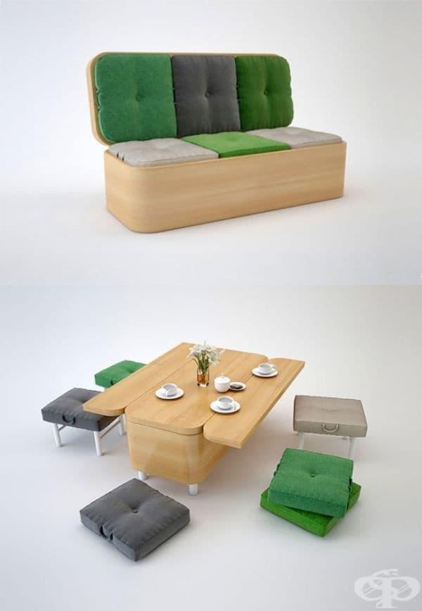 Разтегателен диван - в случай че планирате чаено парти с приятели.