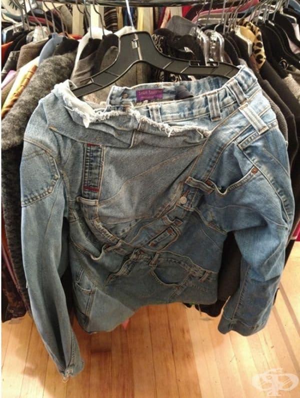 Не изхвърляйте старите дънки, ето какво може да си направите с тях. Блуза, може би?