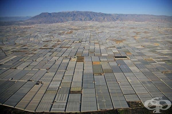 Огромна територия в тази испанска провинция е заета от оранжерии.