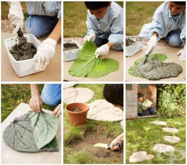 Пътека от каменни листа - превърнете вашия двор в приказка.