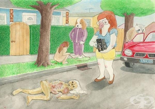 20 сатирични илюстрации демонстрират как биха изглеждали хората и животните с разменени места