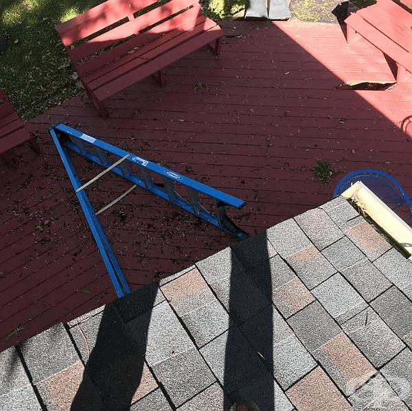 """""""Реших да почистя покрива на къщата и сега не знам как да сляза."""""""