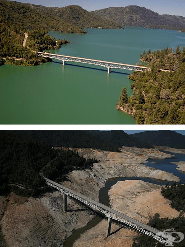 Само за 3 години калифорнийското езеро Оровил почти изсъхна.