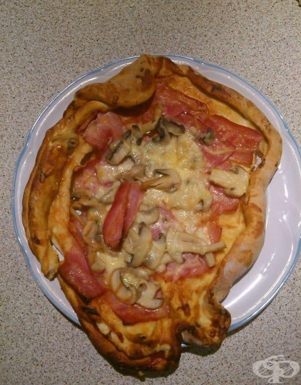 Нещо подобно на пица.