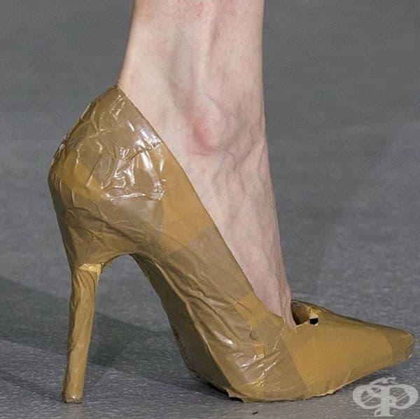 Може да облепите официалните си обувки със стреч за по-ефектна визия.