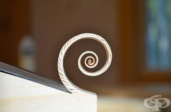 Страхотна дървена спиралла.