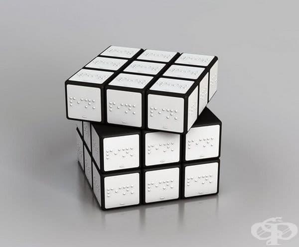 Куб на Рубик за слепи хора.