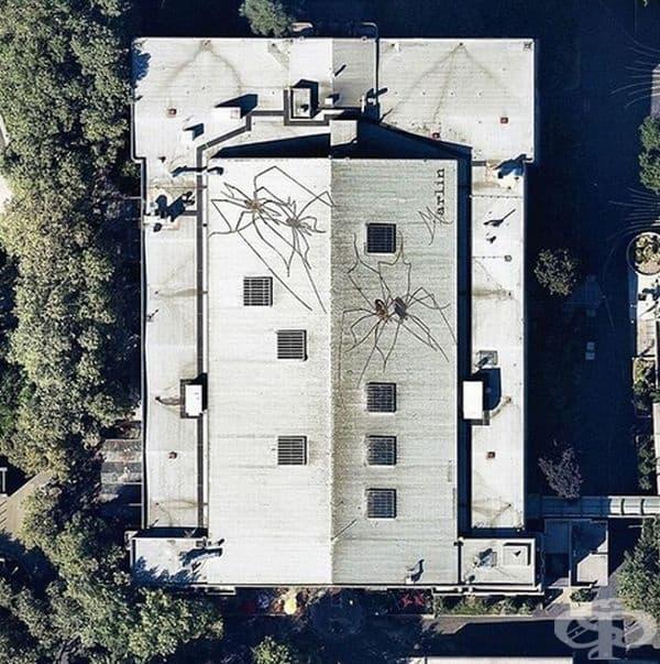 Триизмерни изображения на покриви в центъра на Сиатъл, Вашингтон.