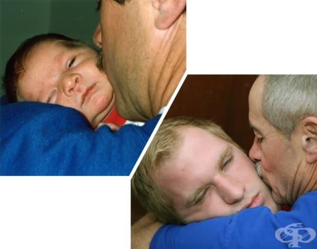 Бащите не могат да кажат много, но една обикновена целувка казва всичко.