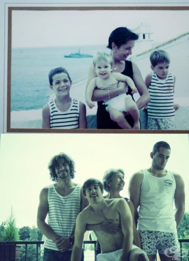 Няма нищо по-силно от любовта на майка към тримата и синове.