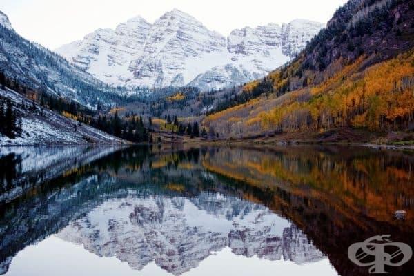 Есен и зима се срещат в Колорадо, САЩ.