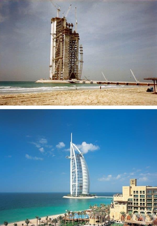 Бурж ал Араб, Дубай, ОАЕ. Строителство: 1994-1999 г.