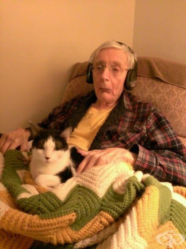 Този мъж винаги си е мечтал да има котка и сега желанието му най-накрая се сбъдва.