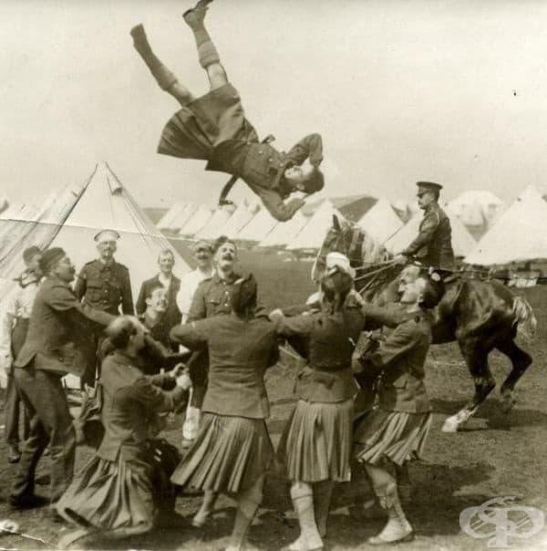 Шотландски войници, 1916.