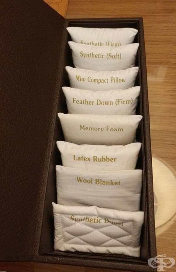 В този хотел предлагат цяло меню от възглавници.