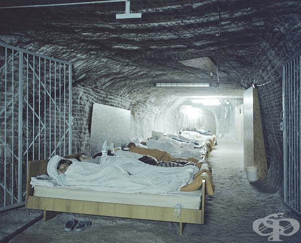 Спа център за пациенти с астма в Полша. Това е солна мина.