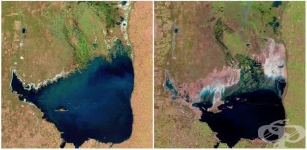 Езеро Мар Чикита, Аржентина (юли 1998 - септември 2011).