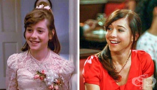 """Първата голяма роля на Алисън Ханигън е била в """"Моята мащеха е извънземно"""". 20 години по-късно същата млада Ханиган участва в """"Как се запознах с майка ви""""."""