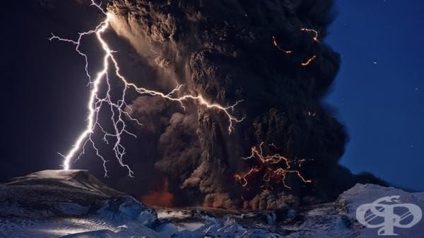Вулканично изригване в Исландия.