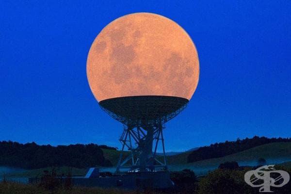Супер луна в радиотелескоп.