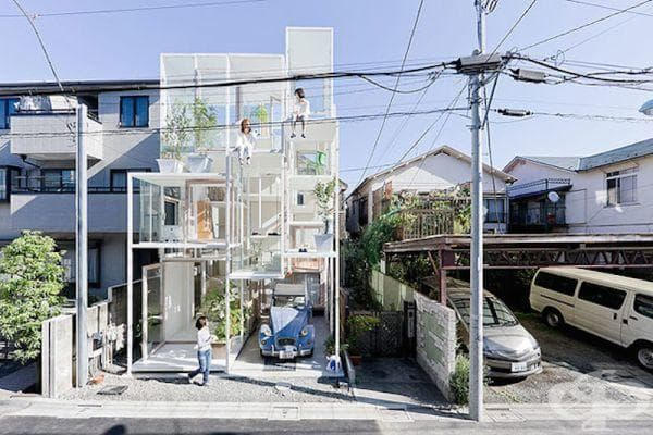 Стъклена къща в Токио - екстериор