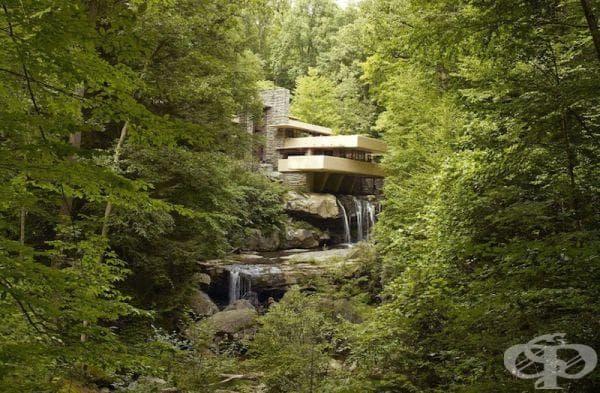 Къща на водопад в Пенсилвания