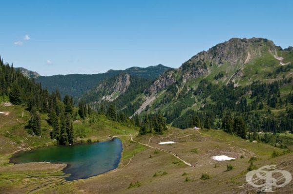 """Езеро с форма на сърце в Национален парк """"Olympic"""", Вашингтон"""