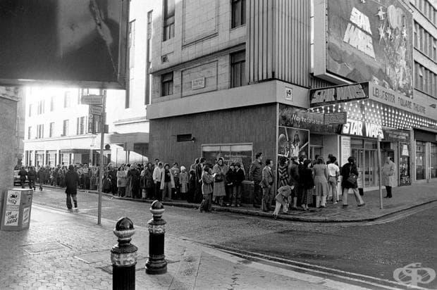 """Пред киното, Лондон, 1977...премиера на """"Междузвездни войни"""""""