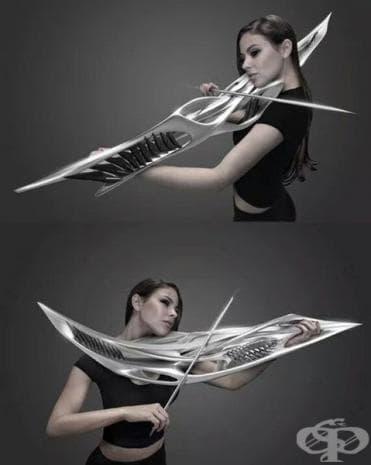 Електрическа цигулка, която прилича на космическо оръжие