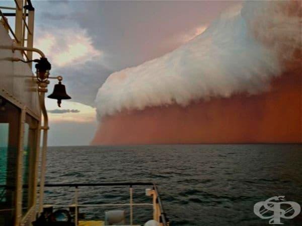 Огромна пясъчна буря, Западна Австралия, 2013г.