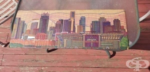 Бездомник от Нешвил е създал това произведение на изкуството от обикновен картон.