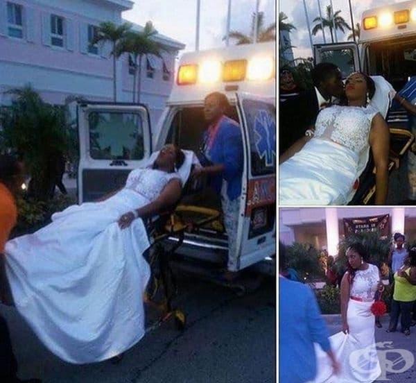 Жената от количката се свести след целувката. Изглежда като история от приказка.