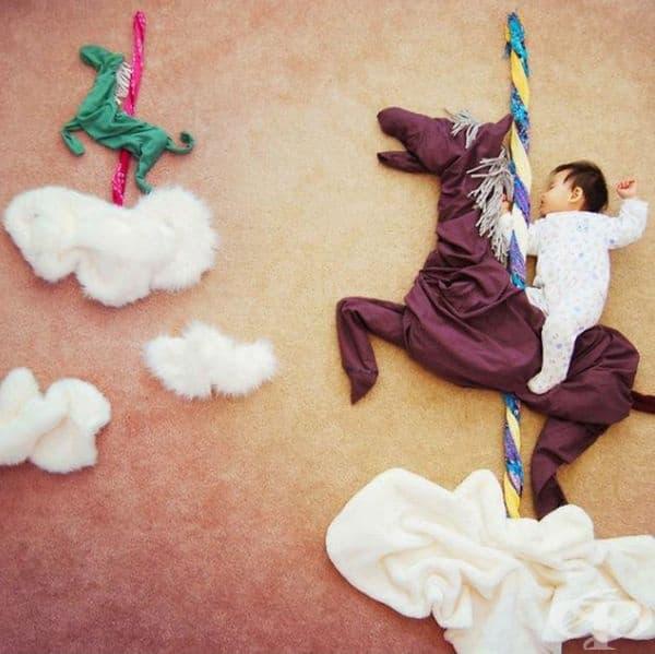 Майка прави вълшебна фотосесия на своето бебе