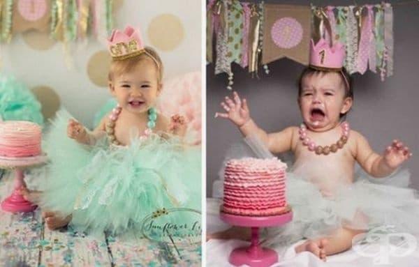 Когато не може да опита тортата.