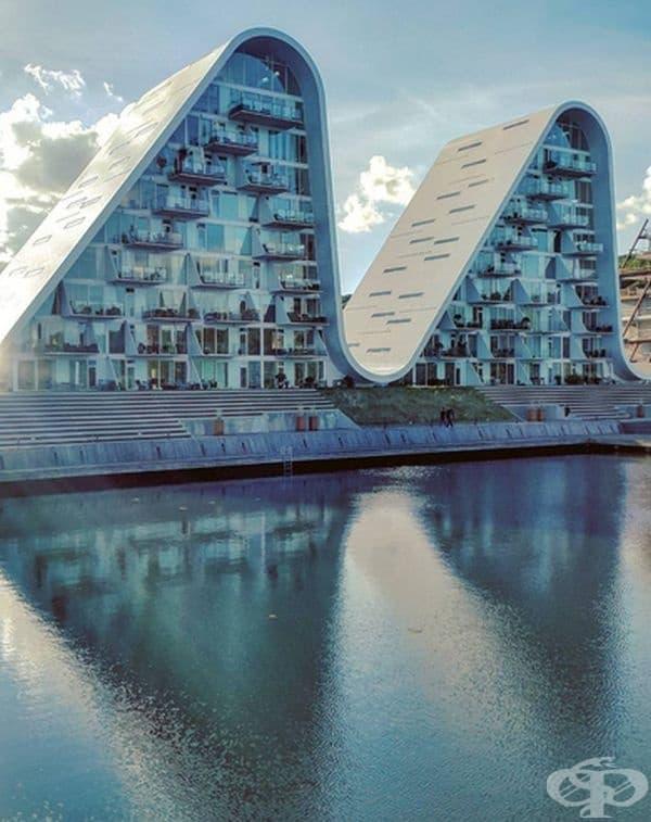 Вълнообразни сгради в градския пейзаж на Дания