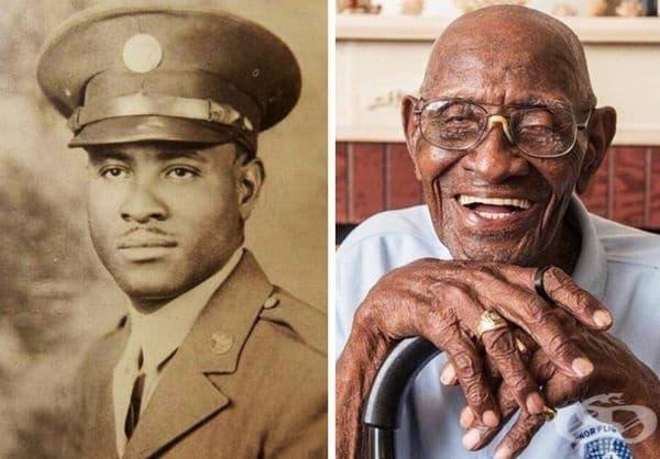 Този мъж е служил в американската армия по време на Втората световна война. Той е най-старият жив американски ветеран и най-възрастният жив мъж в САЩ. Той е на 112 г.
