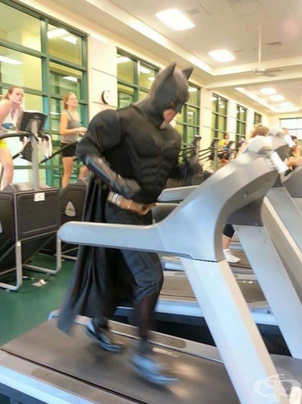 Може би част от новото видео за Батман?
