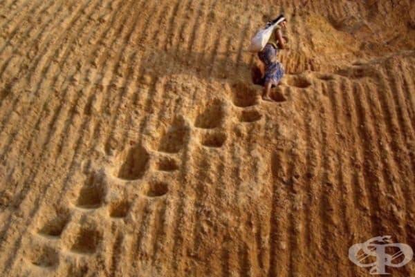 Стъпки в пустинята, тип стълбище.