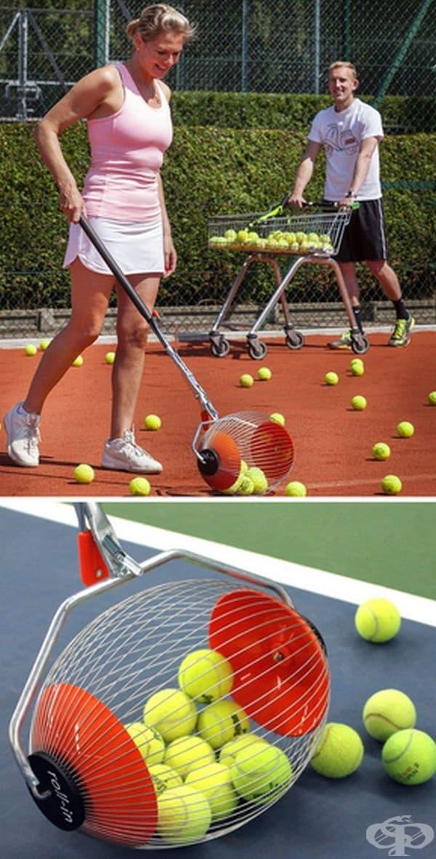 Тренирайте тенис, без да се уморявате от събирането на топки. K-Max е иновативен инструмент, който ви помага да събирате топките, без да се навеждате и уморявате.