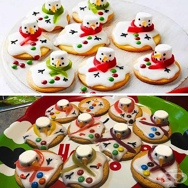 Не ви ли се струва, че сега тези снежни човеци изглеждат малко ядосани?