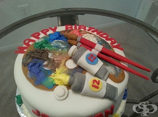 Торта за 12-годишен художник.