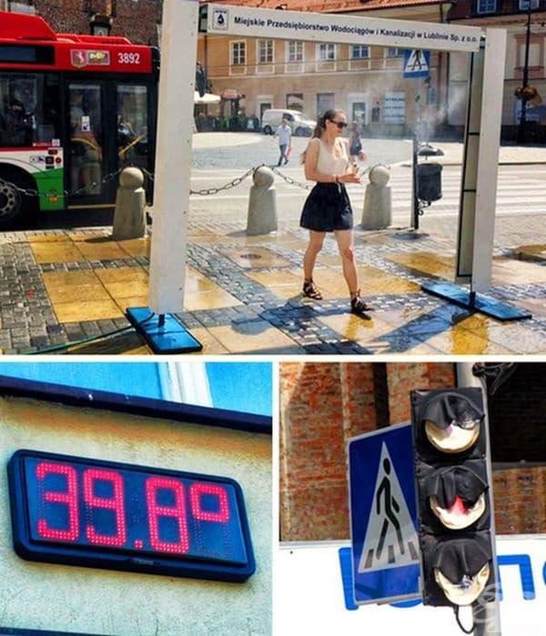 Инсталиран охладител в Люблин (Полша).