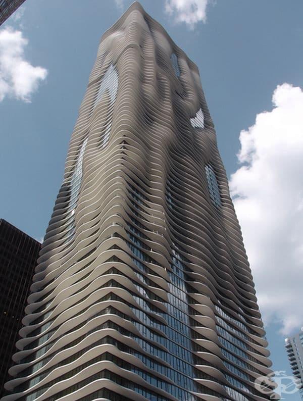 """Небостъргач """"Аква"""" в Чикаго, САЩ."""